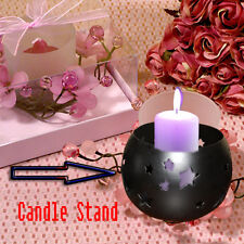 Beautiful Brass Platted Candle Stand - Pack Of 2.