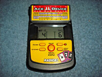 RADICA BETWEEN ACE DEUCE RED DOG POKER HANDHELD ELECTRONIC GAME 2860 - NICE