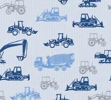 AS Creation Vliestapete/Borte Kinderzimmer Traktor Bagger Trekker | Esprit Kids