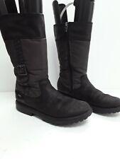Childrens Girls  Long Boots Clarks Junior Zip Up Winter Size 2.5  Grip