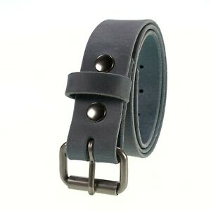 """Men's Buffalo Leather Belt, 1 1/4"""" width, Handmade in the USA, By Amish"""