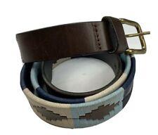 "FAE Men's Pampeano Leather Multi Polo Belt fit 42""-46"""