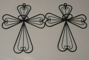 """Set of 2 Wrought Iron Angel Shaped Candle Wall Sconce """"NEW"""""""