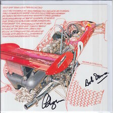 Clive Chapman and Bob Dance Hand Signed Lotus Post Card Very Rare F1 4.