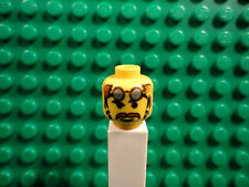 Lego mini figure 1 Yellow head with face and aviator goggles #25