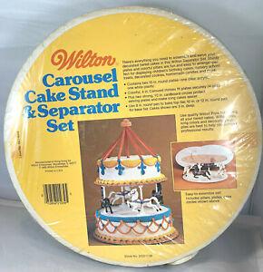 WILTON CAROUSEL CAKE STAND & SEPARATOR SET VINTAGE
