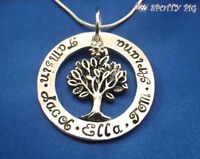 Personalised Necklace Family Tree of Life Names, Gift Present, Gran Mother Xmas