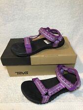 Girls Teva Hurricane 2 Purple And Black Size 2 Sandals Brand New With Box