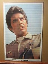"vintage ""CHIPS"" Erik Estrada as Ponch Poncheerello police biker Poster 1978 1022"