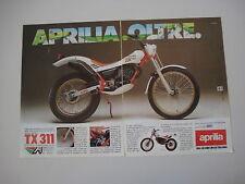 advertising Pubblicità 1986 MOTO APRILIA TX 311 TRIAL