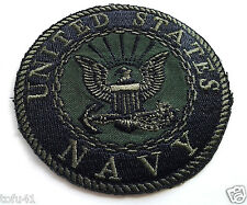 UNITED STATES NAVY  SUBDUED Military Veteran Biker Patch PM0896 EE