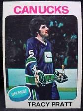 Canucks Defence Tracy Pratt OPC Hockey Card 1970's