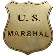 NEW - U.S. MARSHAL BADGE - COWBOY SHERIFF/RANGER US REPRODUCTION  WILD WEST
