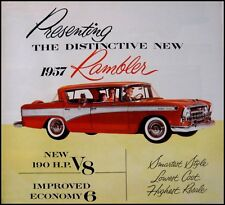 1957 Rambler Color Brochure Cross Country Wagon Canada