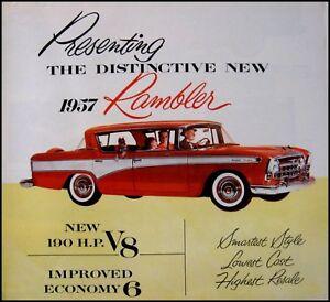1957 Rambler Color Brochure Cross Country Wagon Canada Original