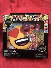 Emoji Heart Eyes Diary Set With Lock - Stickers Emoji Stamper Stamp Pad Bundle