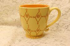 Starbucks Coffee Mug Tea Cup Footed Ornate Yellow 2004