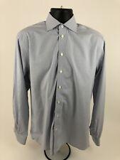 Eton Blue/Gray Checks Long Sleeve Dress Shirt Mens Size 15/38. C165