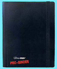 ULTRA PRO BLACK 4 POCKET PRO-BINDER 160 Cards 20 Side Load Pages MTG Book Album