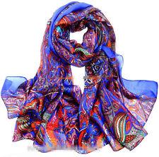 XXXL 100% echt silk Reine Seide Seidentuch Schals scarf Damen 180cmX110cm 021
