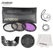 49MM UV,CPL,FLD Filter Kit + Lens Hood for DSLR SLR Canon EOS Rebel 18-55mm M0O7