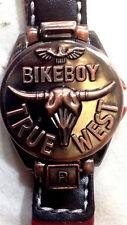 Bellissimo Orologio Bikeboy True West Cinturino Rosso - R&F Nuovo