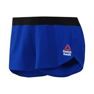"""Reebok 2017 CrossFit Games Women's Blue 2"""" Woven Shortie Shorts CD1416"""