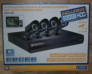 SkyTronic Plug&Play DVR 4CCD Kit 500GB H264 Festplatte 8 Kanal Viedeoüberwachung