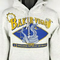 Baker To Vegas Relay Hoodie Sweatshirt Vintage 80s 1989 Race Made In USA Small