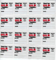 100 STATIC CLING OIL CHANGE STICKER DECAL FREE SHIPPING