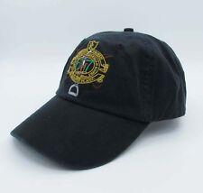 Polo Cap Black Baseball Hat Golden Logo 67 Golf Tennis Unisex Casual Sunhat 021