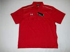 UNDER ARMOUR GOLF ColdBlack Red Polo Shirt mens Size L / LARGE $64.99  NEW