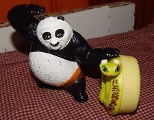 KUNG FU PANDA MCDONALDS  TOY FUN FIGURE LOT VIPER SNAKE + PO PANDA GUC