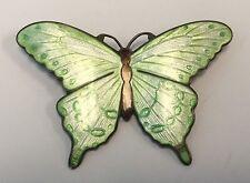 Art Nouveau Sterling Silver Enamel Butterfly Brooch Pin by Thomae Co