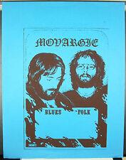 Monargle (?) groupe de blues Rock 1975 par Gapin affiche de concert 64 cm