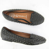 Jeffrey Campbell Martini Ibiza Last Ballet Flat Spike Studs US 6.5 Leather Metal