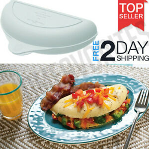 Egg Omelet Wave Mould Microwave Maker Pan Non Stick White Easy Cooking Gadgets