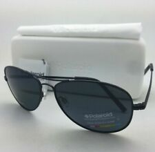 POLAROID Sunglasses PLD 1004/S 003 C3 61-15 Black Aviator Grey Polarized Lenses