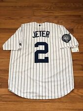 Derek Jeter #2 New York Yankees Jersey With Captain Patch Men's Size Medium