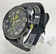 Ferrari - 0830061 - Homme Cadran Noir Silicone Bracelet Montre Chronographe -