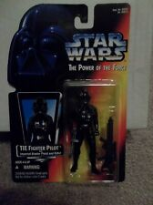 "Star Wars POTF Tie Fighter Pilot Red Card The Power of the Force ""CASE FRESH"""