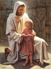 Del Parson COME AND SEE 20x16 Artist Signed paper giclee Jesus with Little Girl