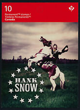 Canada 2766a Booklet Mnh Hank Snow, Country Music Artists, Horse