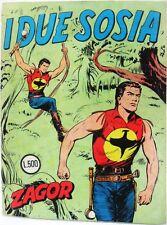 ZAGOR n° 5 scritta rossa I DUE SOSIA buono Lire 500 bollino Ottobre '70