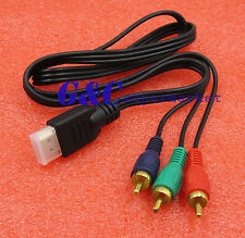 New HDMI To 3RCA 3-RCA Video Component Connection Cable Cord Line