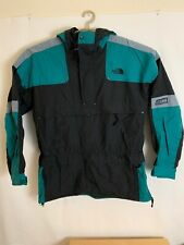The North Face Mens Large Extreme Gear Black Green Jacket Ski Winter 1/2 Zip Sno