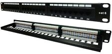 24 Way Cat6 Patch Panel 1u Networking Ethernet Rack Data Server Cabinet Comms