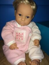 """Berenguer Boutique Doll 21"""" Tall Girl Blonde Blue Eyes Very Nice"""