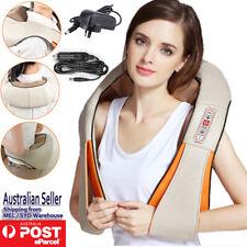 Shoulder Massager Vibrator Back Neck Body Leg Arm Shiatsu Deep Knead Car Wrap OZ