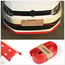 UNIVERSAL Red CAR BUMPER BODY KIT CHIN PROTECTOR AIR DAM SPOILER 250 cm